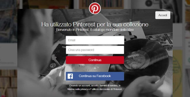Come funziona Pinterest per registrarsi