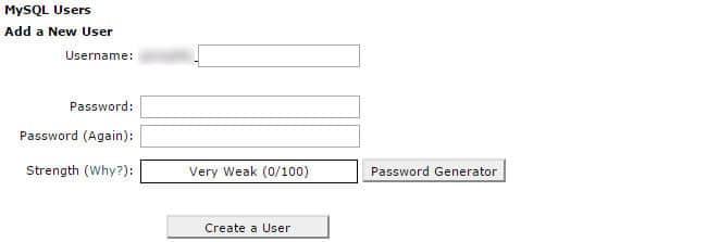 Crea User per database MySQL con Cpanel
