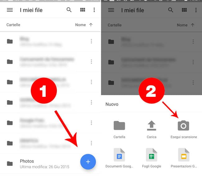 Google Drive Scansione PDF