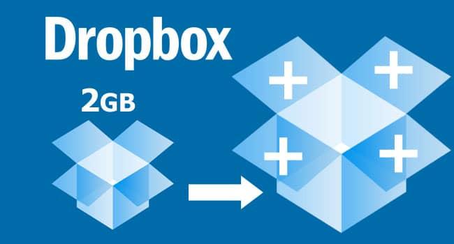 5 modi per avere spazio gratis dropbox