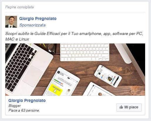 come aumentare fan facebook sponsiorizza pagina