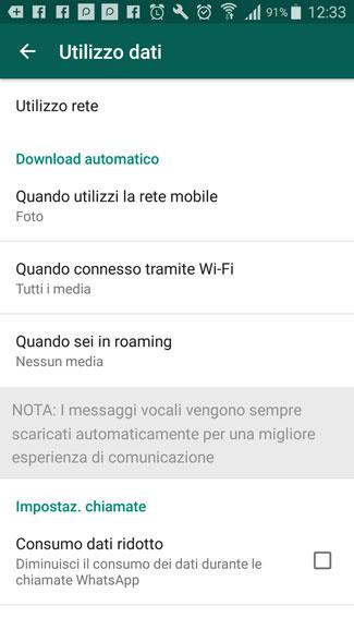 come funziona whatsapp utilizzo dati