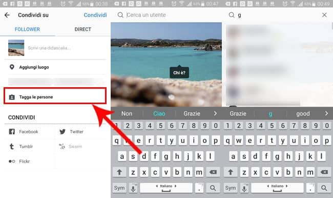 come taggare foto video su instagram