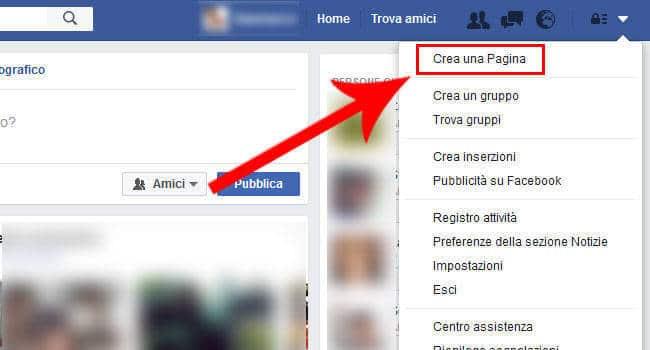Creare pagina Facebook per Aziende
