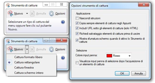 fare screenshot con strumento di cattura windows