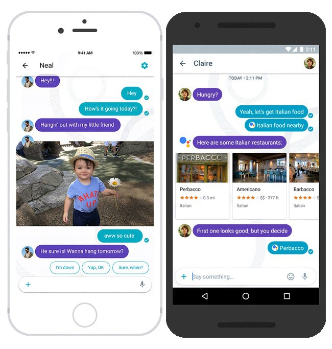 google assistant propone risposte smart su google allo