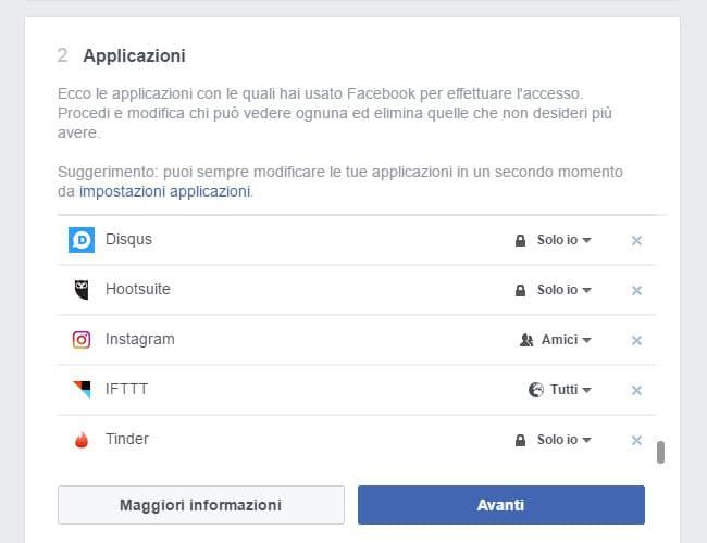 modifica comportamento applicazione tinder su facebook