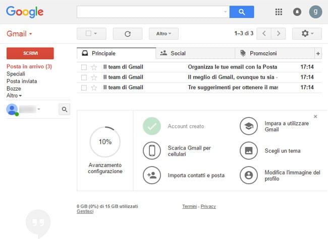 primo accesso com'è gmail