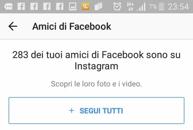 segui tutti gli amici di facebook su instagram