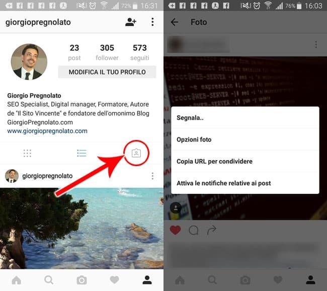 tag foto in cui ci sei tu instagram