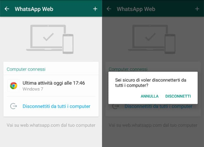 computer connessi whatsapp web