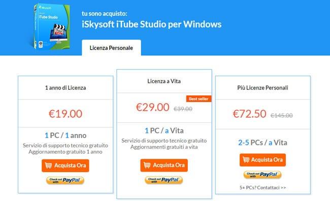 iskysoft itube studio per windows licenza