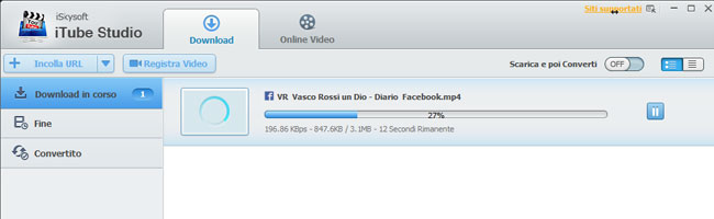 itube studio download video da facebook