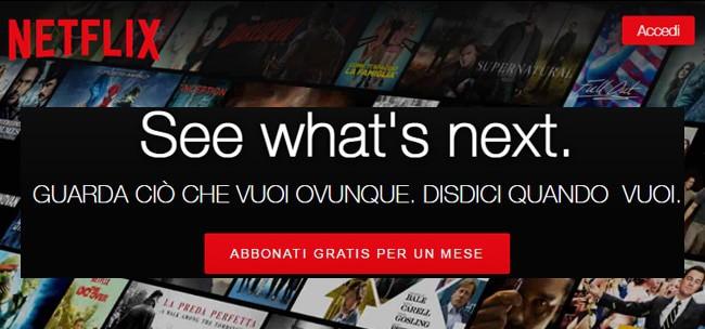 netflix abbonati gratis per un mese