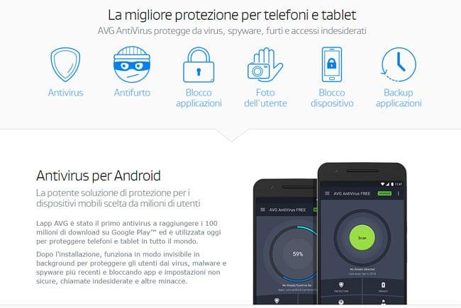 scarica avg antivirus per android