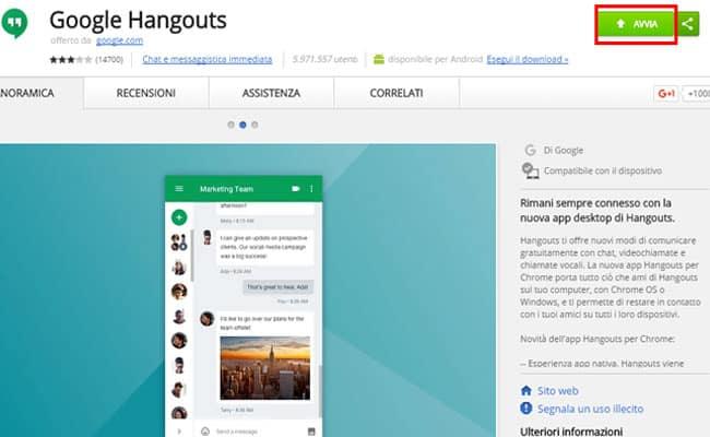 app computer hangouts