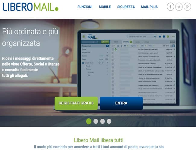 come funziona libero mail