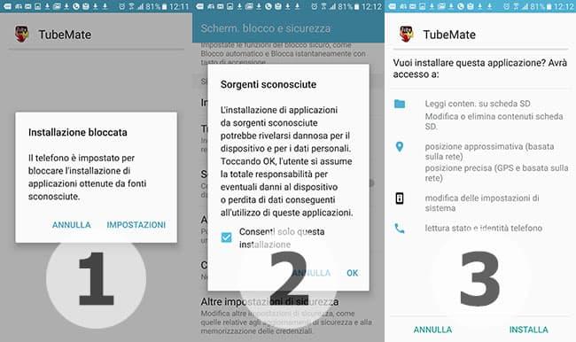 applicazioni per android per scaricare musica da youtube con