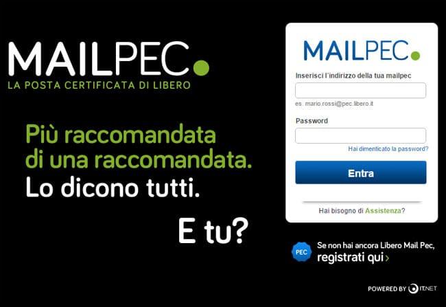 libero mail pec posta certificata
