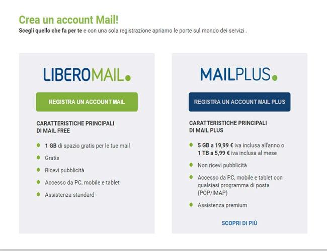libero mail registrazione