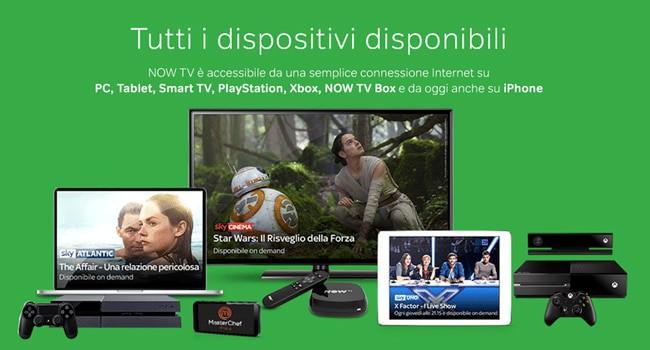 now tv dispositivi