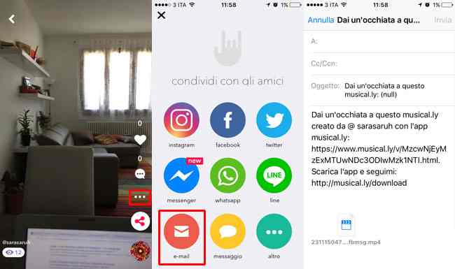 come condividere video musically