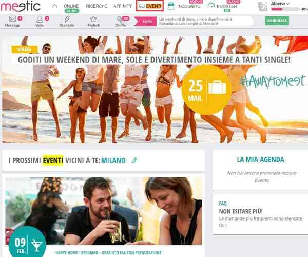 eventi meetic