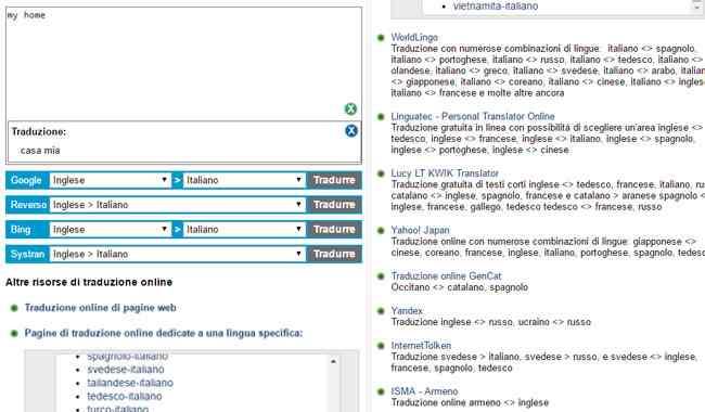 lexicool traduttore comparativo