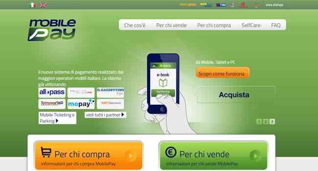 mobile pay nuovo sistema di pagamento