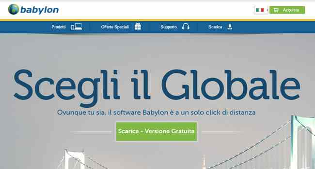 programma per tradurre gratis babylon