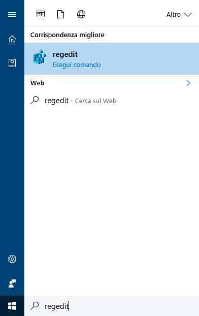 regedit windows 10