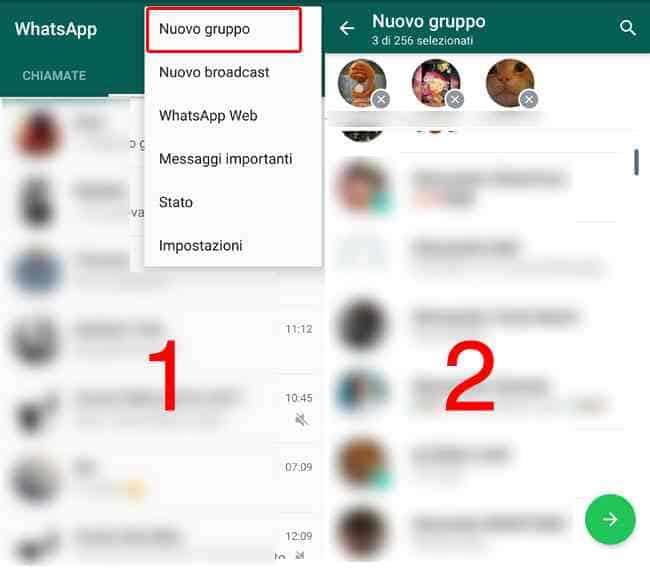whatsapp nuovo gruppo