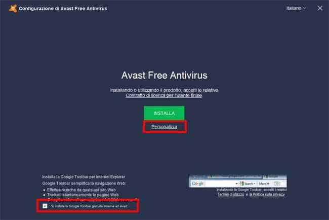 installazione avast free antivirus