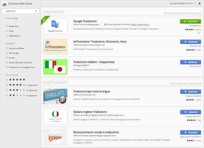estensioni per tradurre chrome