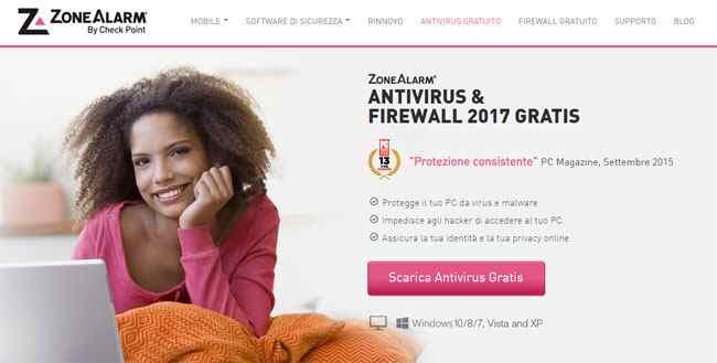 zonealarm antivirus e firewall gratis 2017