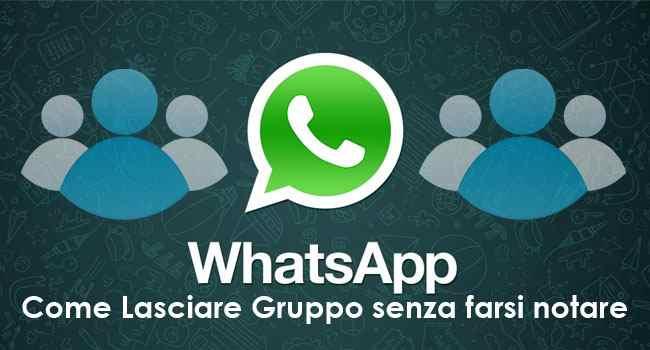 com lasciare gruppo whatsapp senza farsi notare