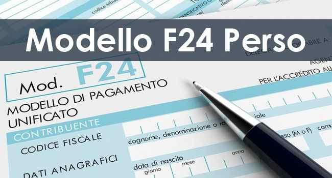 modello F24 perso