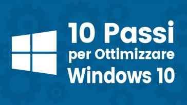 computer lento ottimizzare windows 10