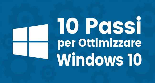 computer lento ottimizzare windows 10