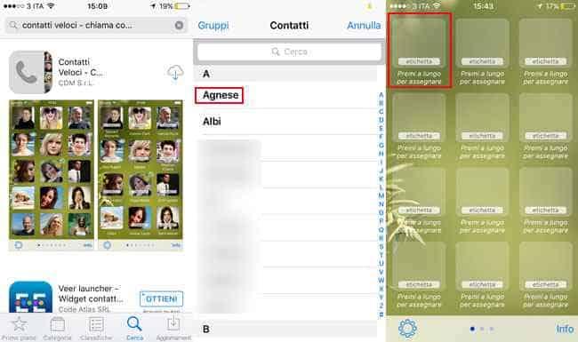 app contatti preferiti veloci iphone