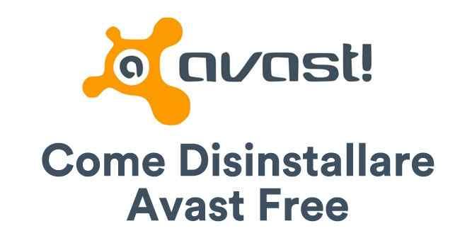 come disinstallare avast free