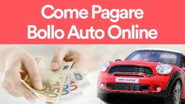 come pagare bollo auto online