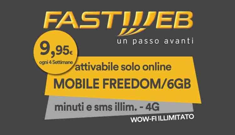 Offerta Voce Fastweb Mobile Freedom