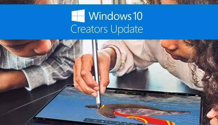 aggiornamento windows 10 creator update