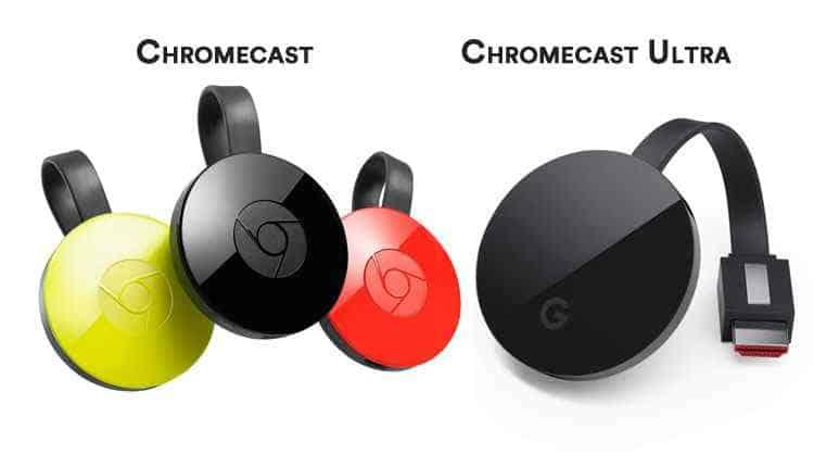 chromecast e chromecast ultra 4k