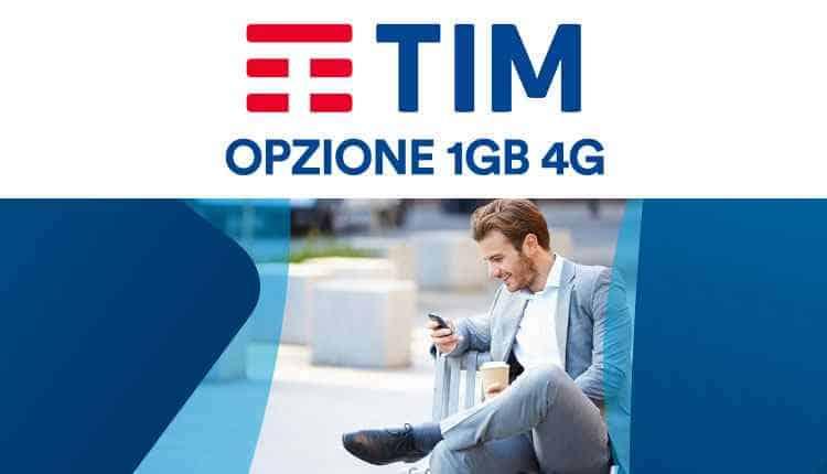 TIM opzione 1GB 4G internet