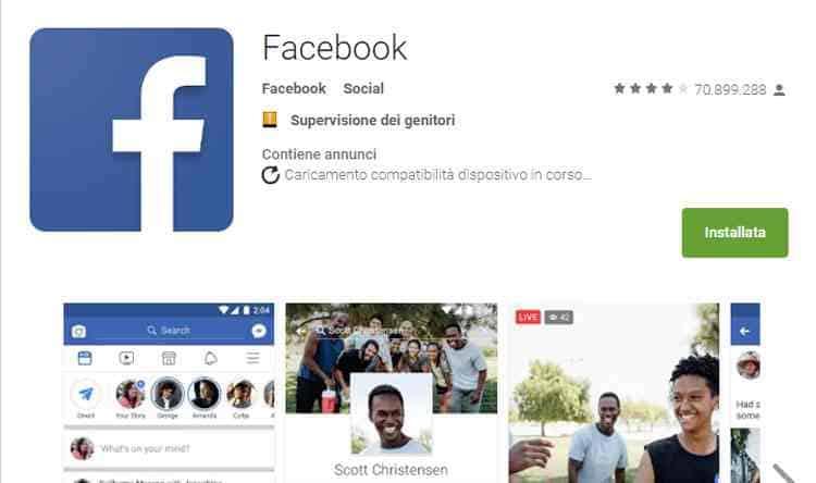 come funziona facebook app