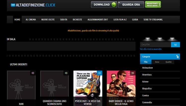 siti film streaming alta definizione