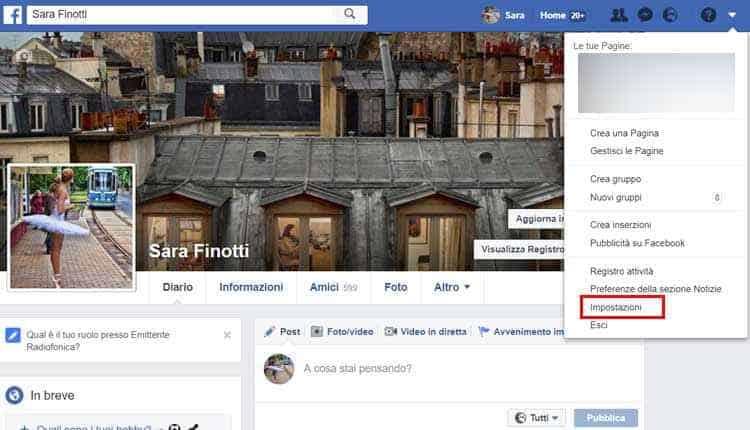 come cambiare url profilo facebook