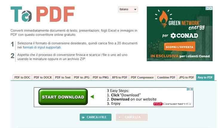convertire word in pdf topdf